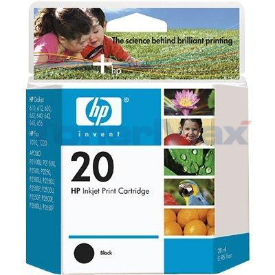 HP NO 20 INKJET BLACK 